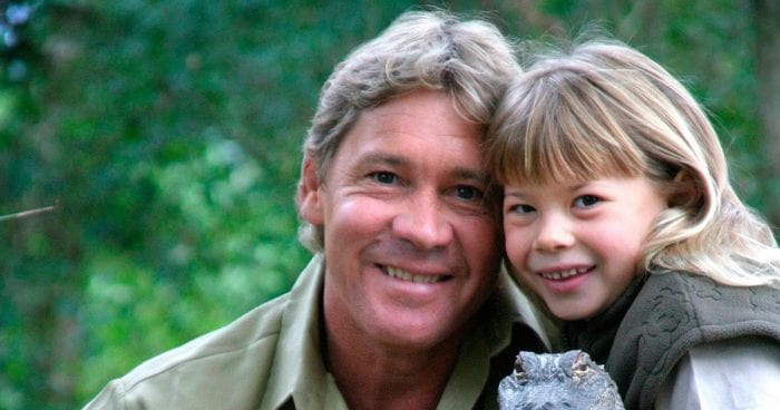 The late Steve Irwin and his daughter Bindi