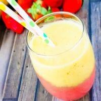 Strawberry Banana Layered Smoothie