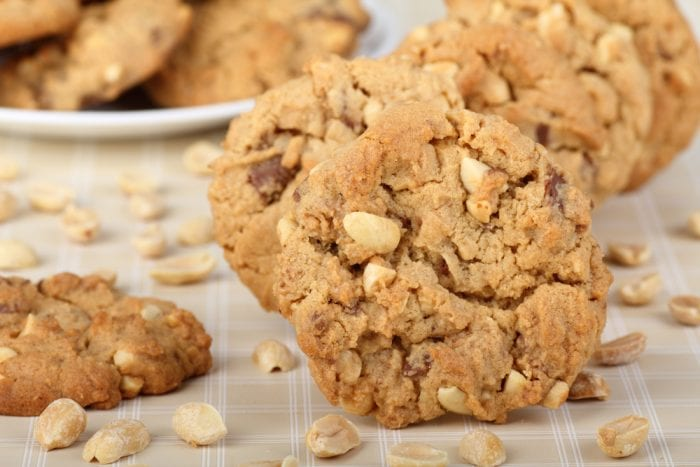 Toss in some nuts or chocolate chips to add a little something extra to these easy peanut butter cookies