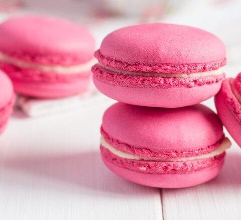 Bubblegum French Macaron Cookies