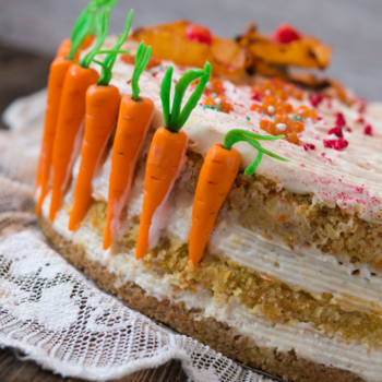 You sometimes take a crazy chance and do something you normally wouldn't and you make the Carrot Cake of Your Dreams--and Bunny Dreams. #cake #carrotcake #easter