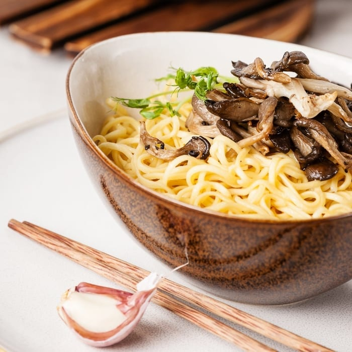 Dinner is just a few minutes away with this insanely easy Oyster Mushroom Ramen Soup recipe