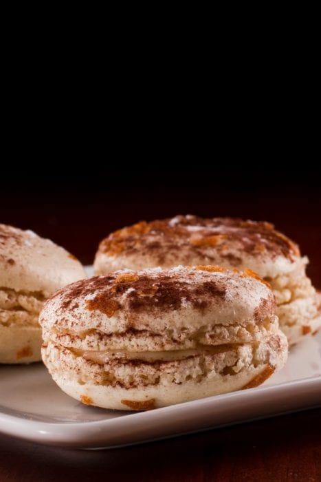 I can't stop eating french macarons. It's like a little miniature hug for my tongue. And the top of my list is is these Tiramisu Macarons. #macaron #frenchmacaron