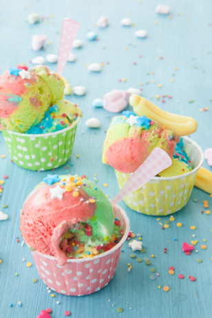 You're going to need to take a seat now. Yeah, like now. Before you faint because this No-Churn Unicorn Ice Cream Is EVERYTHING. #unicorn #icecream #nochurnicecream #recipe