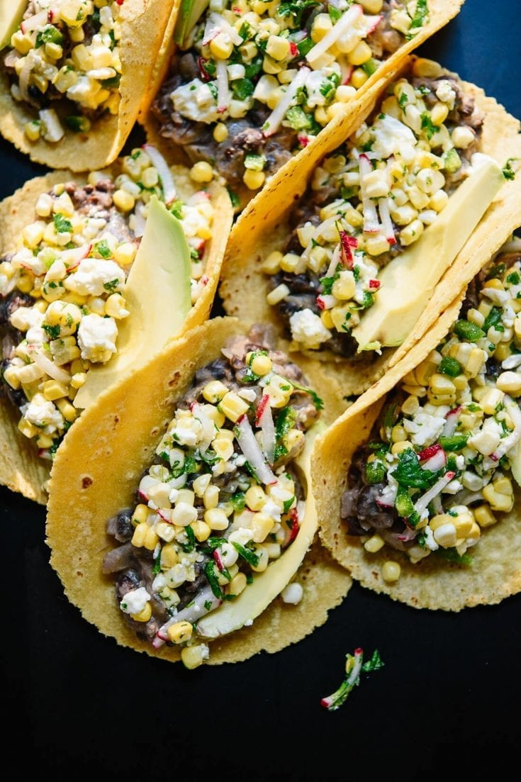 Sweet Corn and Black Bean Tacos