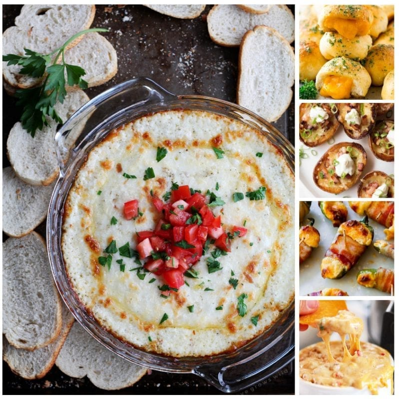 These 26 Cheesy Appetizers are so full of cheese, you'll giggle, you'll gawf, and you'll definitely feed that cheese addiction you've been sporting. No kidding, there's so much cheese here, it's ridiculous. #cheesyappetizers #appetizers #appetizerswithcheese #appetizersmadewithcheese
