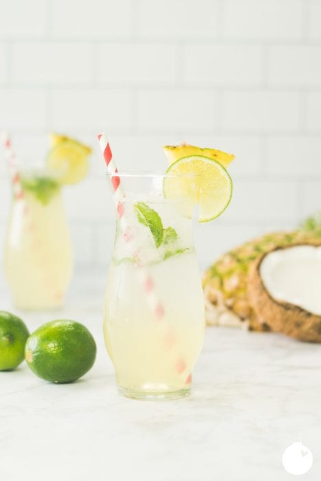 coconut pineapple mojito