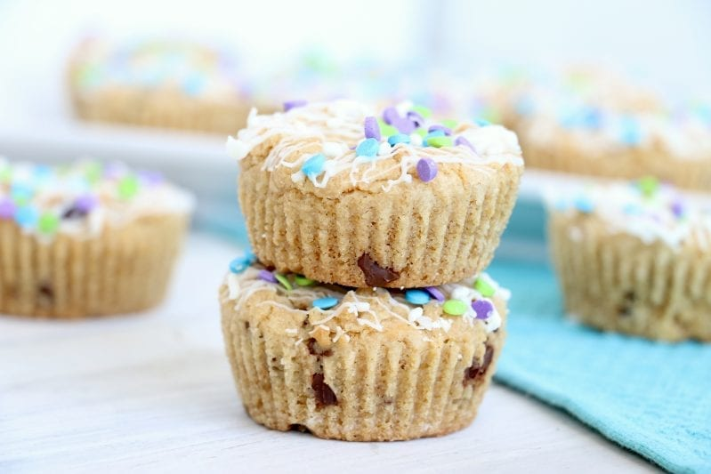 I wanted a cookie, but I wanted a cupcake. What was a girl to do?! For real, it was nearly a tragedy. Until I came up with these amazing chocolate chip cookie cupcakes. They're like a cookie and a cupcake had a baby—and I am planning to eat it! #cupcakes #chocolatechipcoookies #cookiecupcakes #chocolatechipcookiecupcakes
