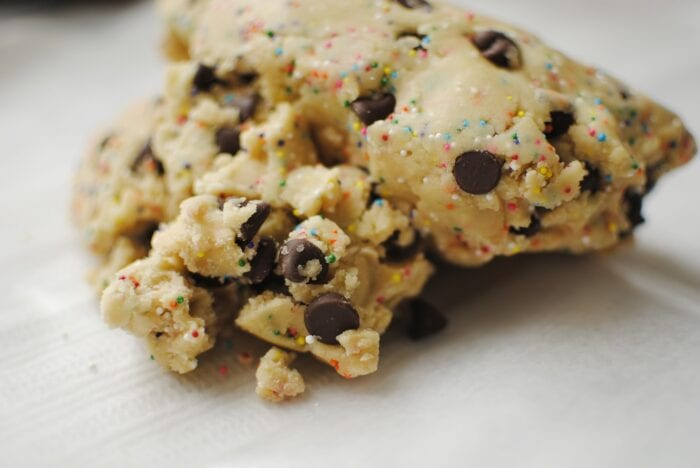 you don't have to worry about catching samonella from raw cookie dough anymore