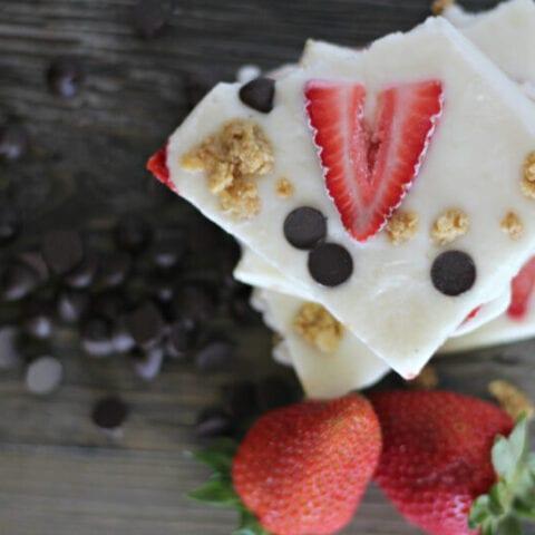 Strawberry Frozen Yogurt Bark