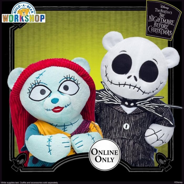 the nightmare before christmas build-a-bears come just in time for halloween