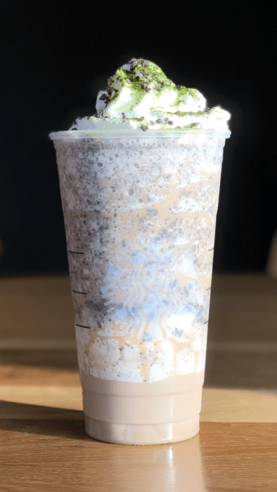 You've got to try this Oogie Boogie Frappuccino from the Starbucks
