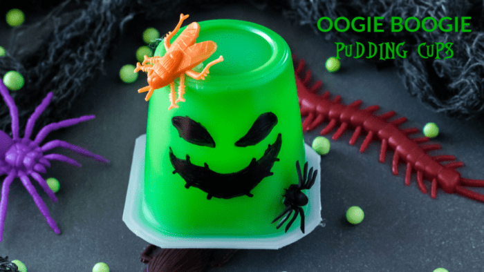 how to make oogie boogie pudding cups