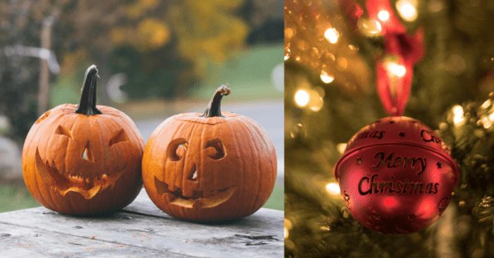 Halloween And Christmas.This Nightmare Before Christmas Clock Counts Down To The
