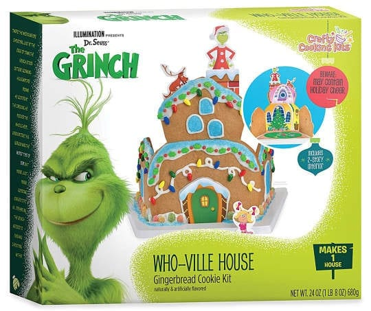 What better way to celebrate a Grinchy Christmas than by building a Whoville style gingerbread house