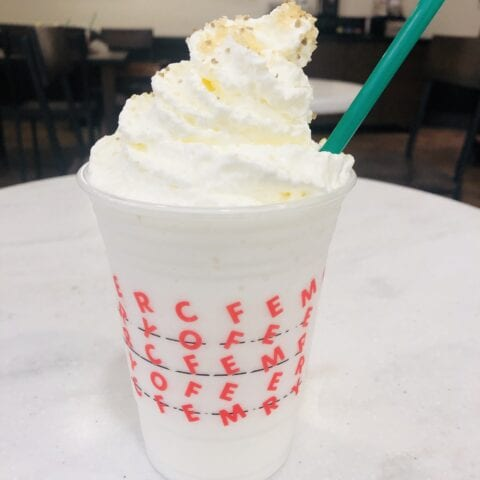 Elsa Frappuccino at Starbucks