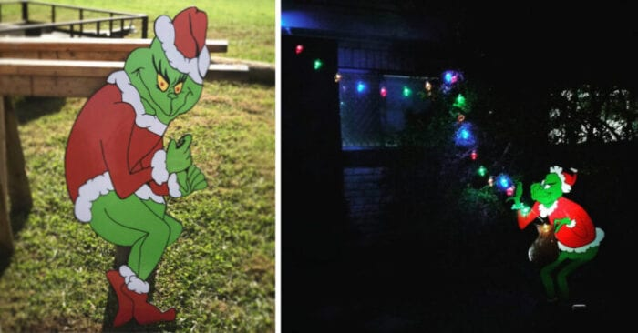 This Life Size Christmas Light Stealing Grinch Is The Only
