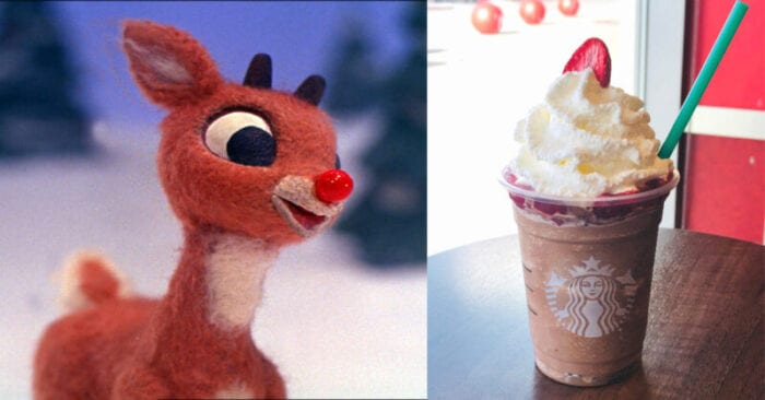 You've got to try this Rudolph The Reindeer Frappuccino from the Starbucks secret menu