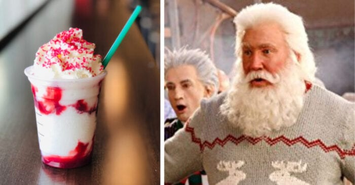 the Santa Claus Frappuccino is a sweet treat that's perfect for the christmas season
