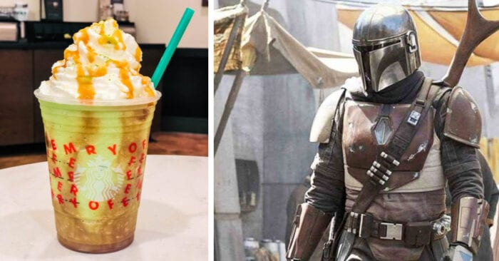 The Mandalorian is a popular Disney+ show so we created a Mandalorian Frappuccino to celebrate it