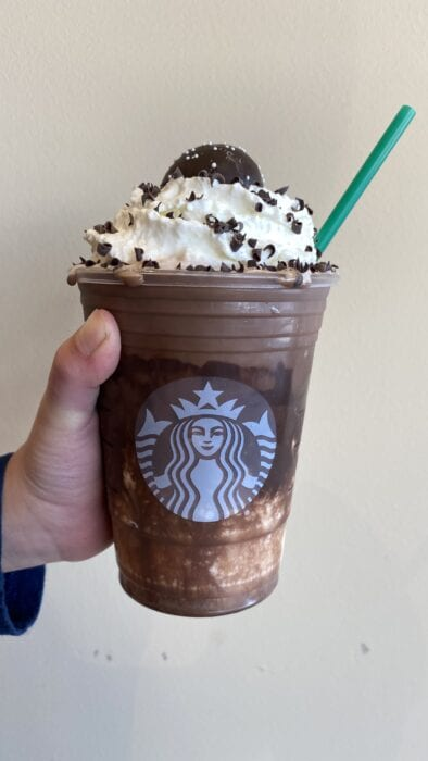 the New Years Ball Drop Frappuccino is a custom starbucks secret menu item that we created to celebrate New Years