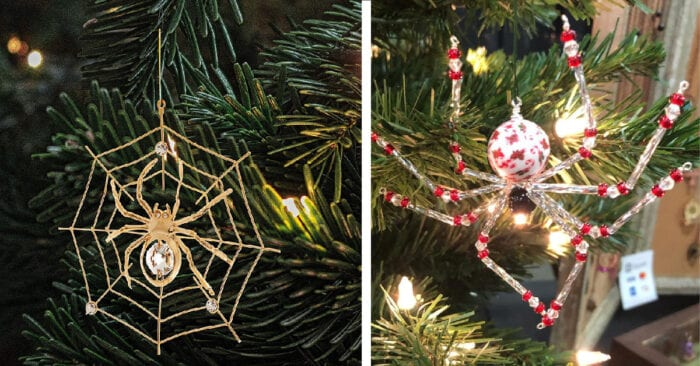 People Are Putting Spider Ornaments on Their Christmas ...