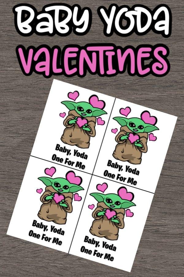 Baby Yoda Valentine