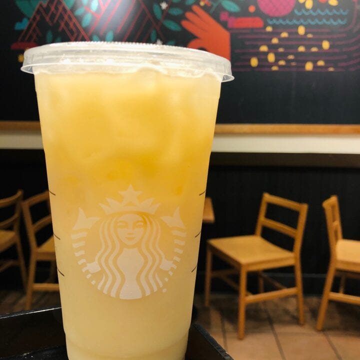 Yellow Drink at Starbucks