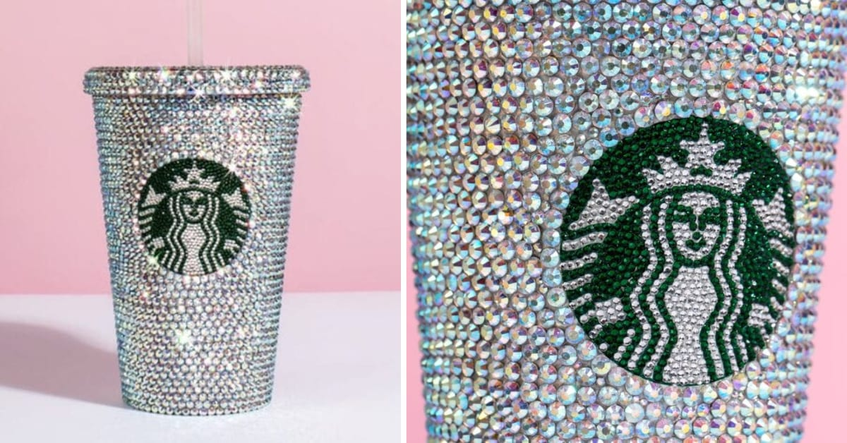 You Can Get A Starbucks Cup Covered In Swarovski Crystals And I Need It Now