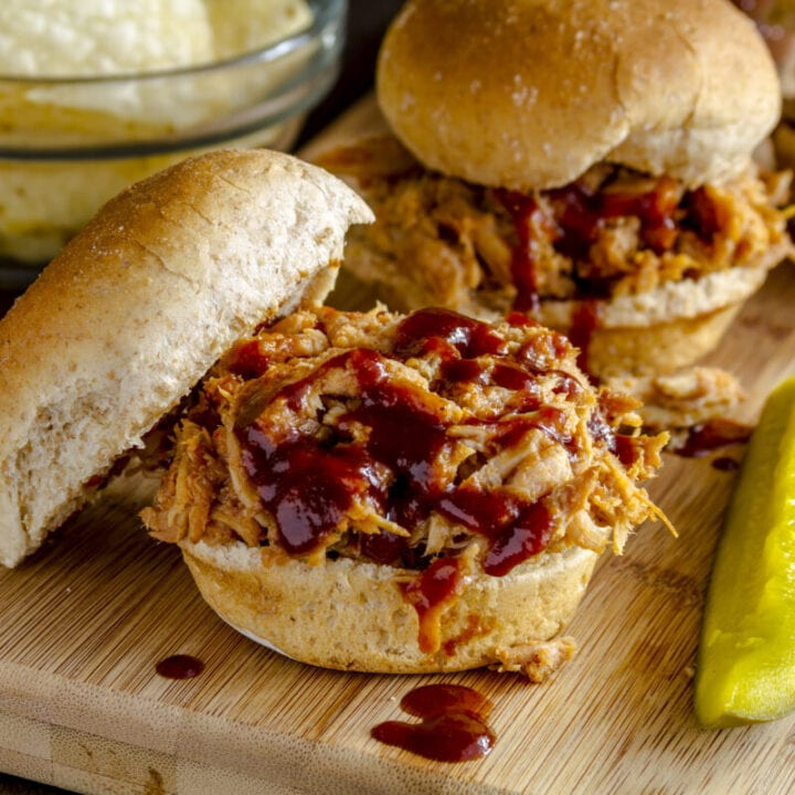 Instant Pot Barbecue Buffalo Chicken Sliders