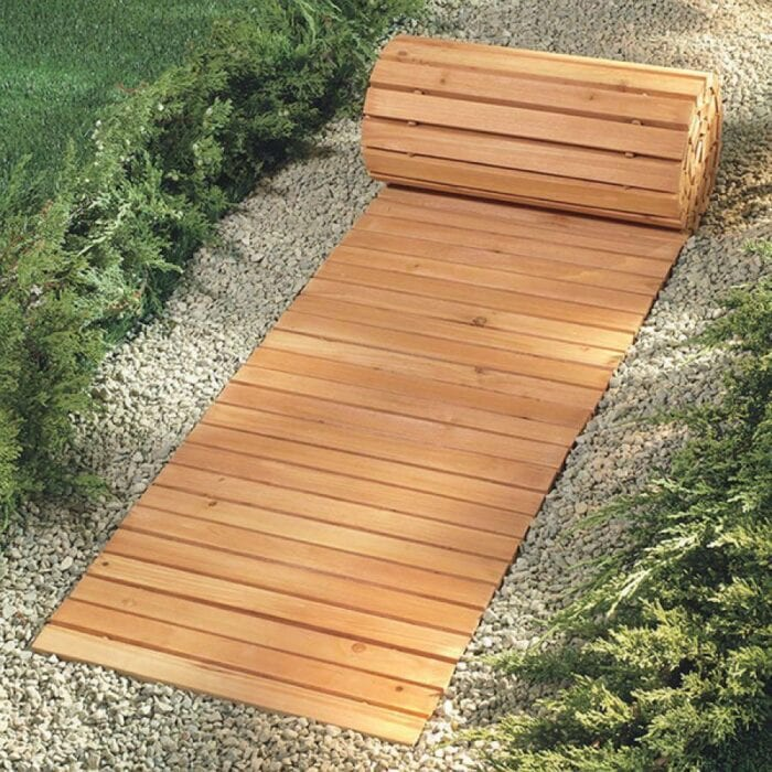 You Can Get A Roll-Out Wooden Walkway That Will Set Up A ...