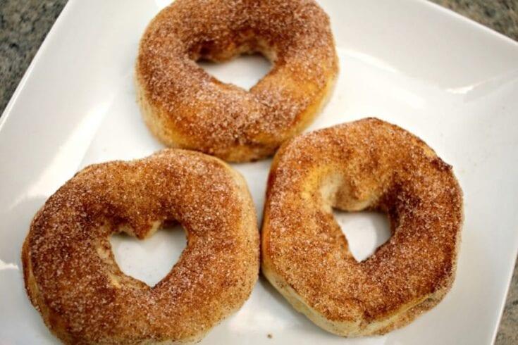Air Fryer Cinnamon Sugar Doughnut Recipe