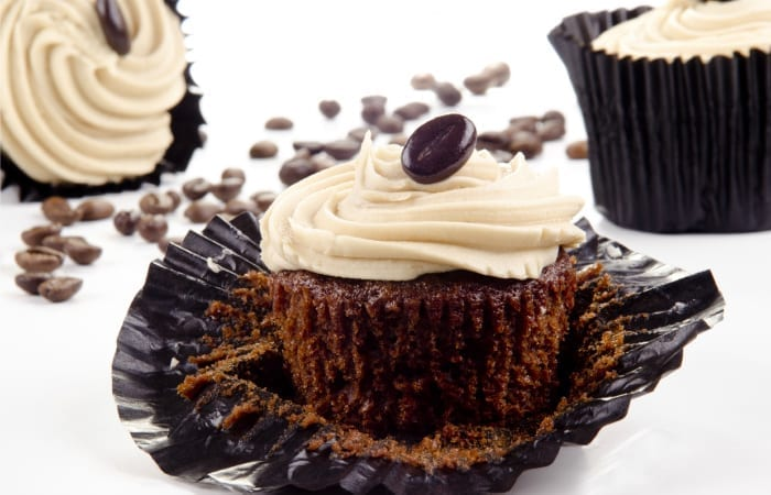 Mocha Cupcakes with Irish Cream Frosting