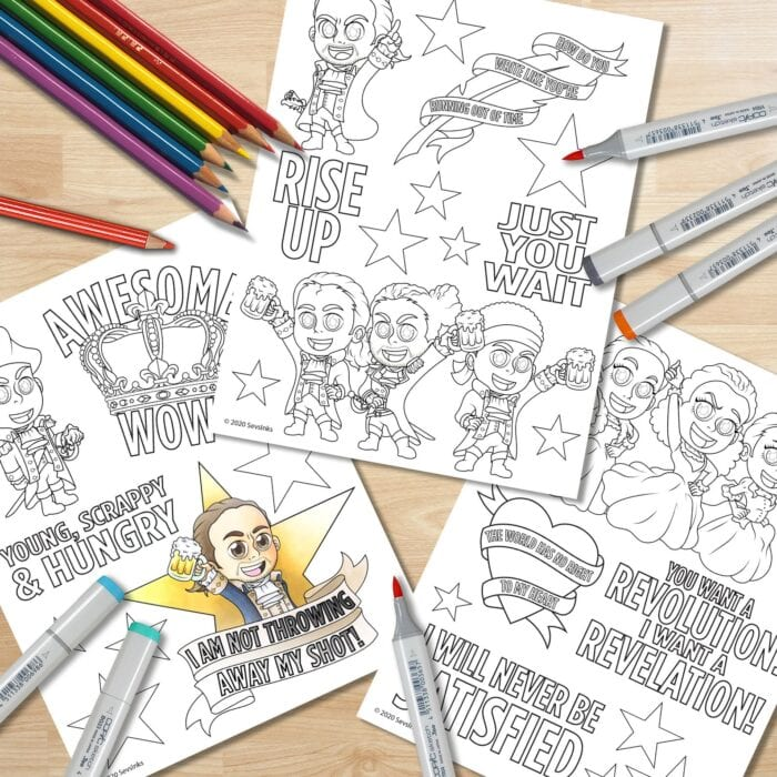 You Can Print Your Own Hamilton Adult Coloring Book And I M Not Throwing Away My Shot