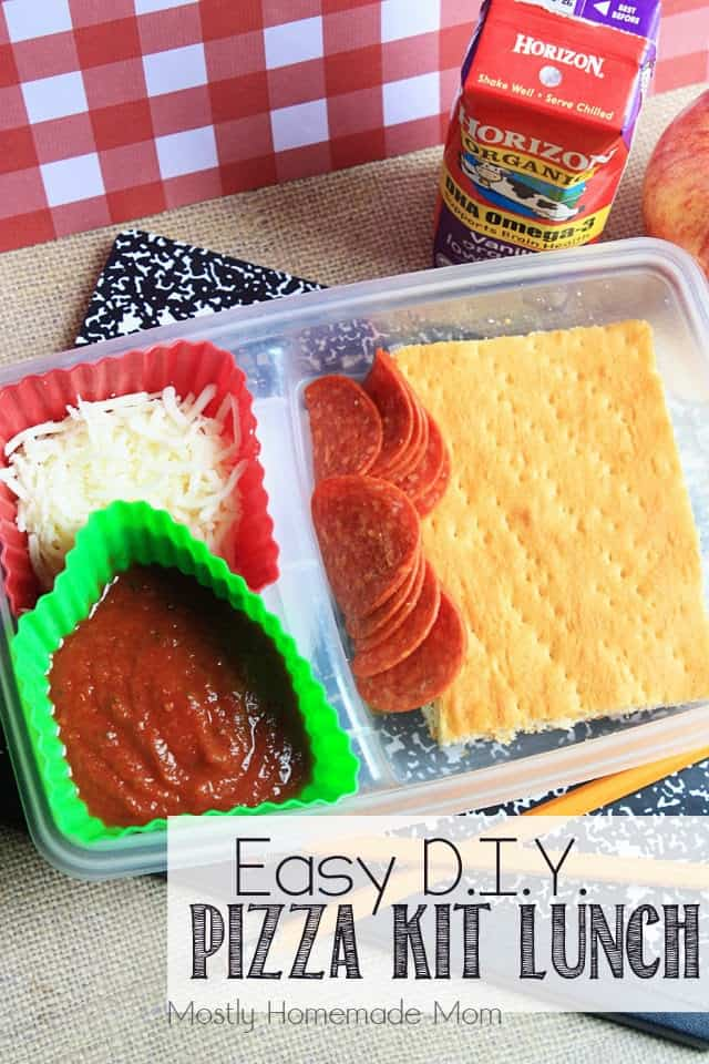 Easy DIY Pizza Kit Lunch