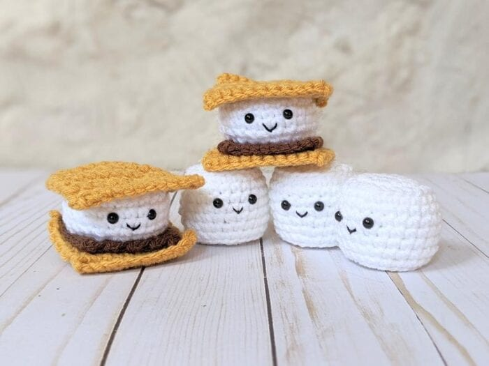 Smores Stuffed Animal, You Can Crochet Tiny S Mores Plush Toys And You Know Your Kids Need Them
