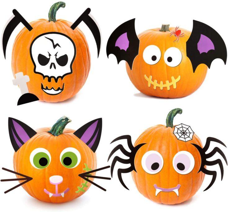 Foam Pumpkin Decorating Stickers