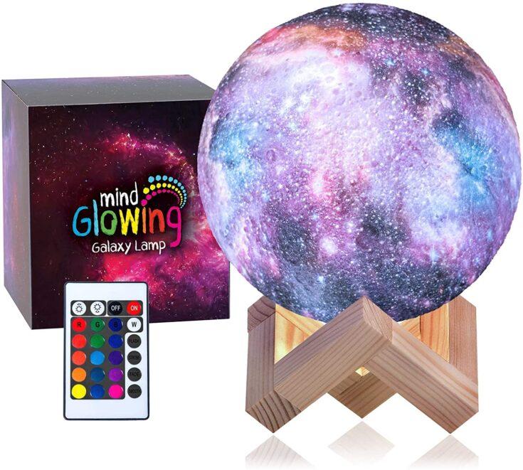 3D Galaxy Moon Lamp