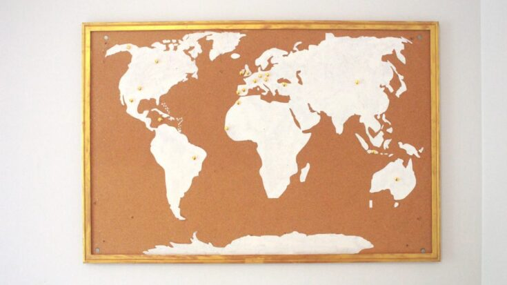 DIY Corkboard World Map