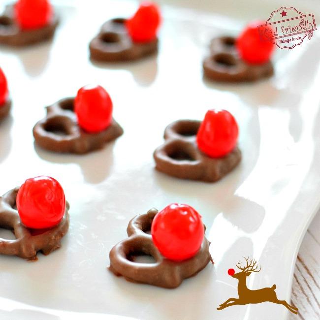 Chocolate Pretzel Rudolph Noses