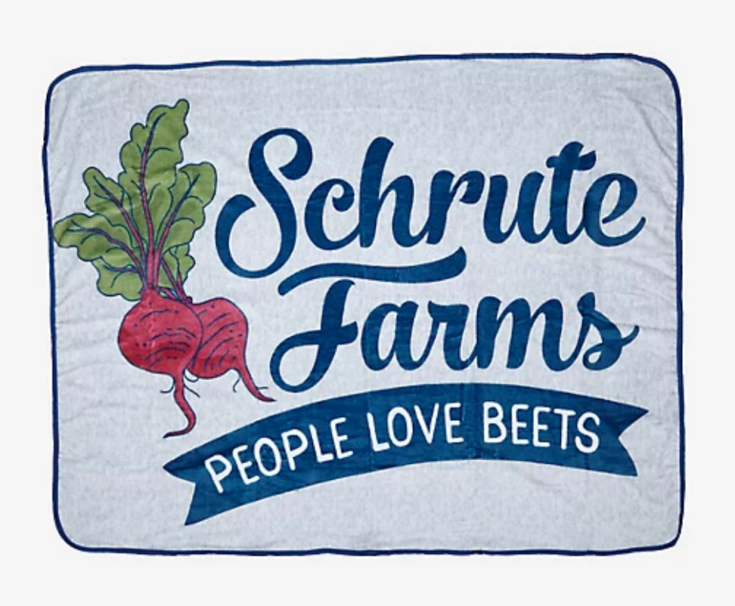 The Office Schrute Farms Throw Blanket