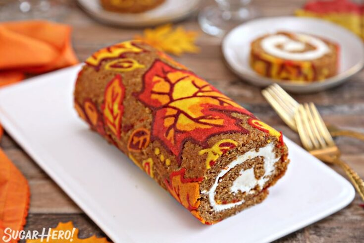 Patterned Pumpkin Roll