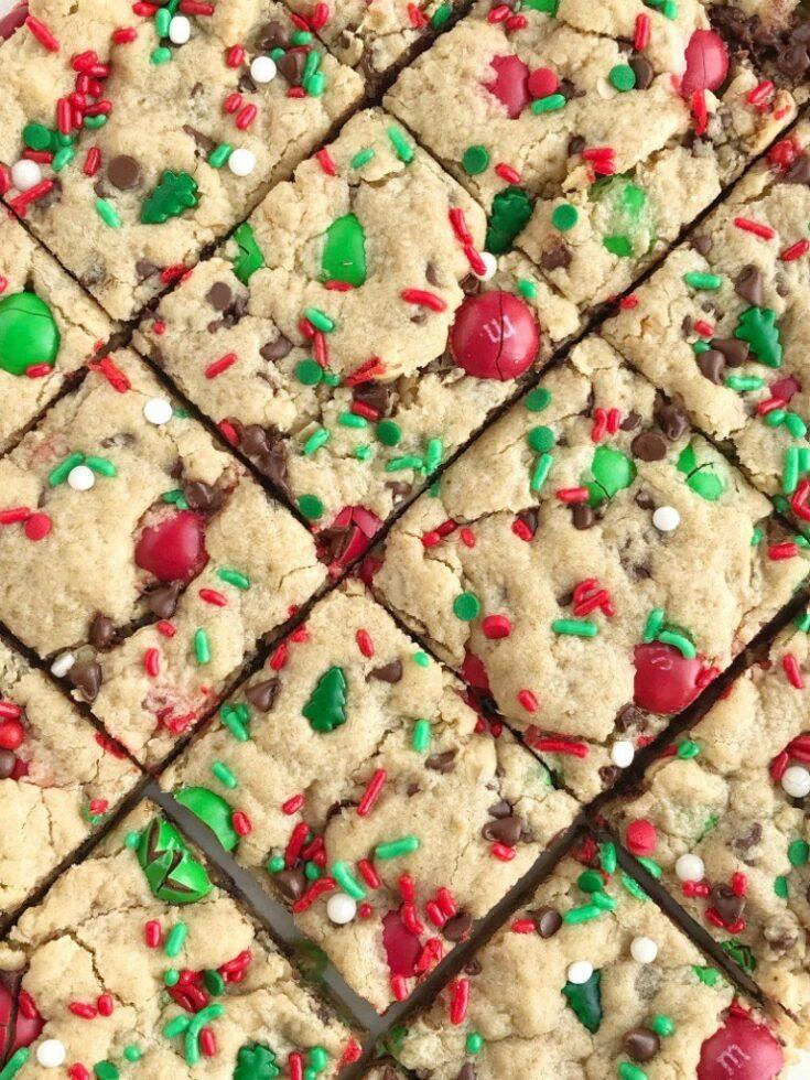 Santa's Peanut Butter Cookie Bars