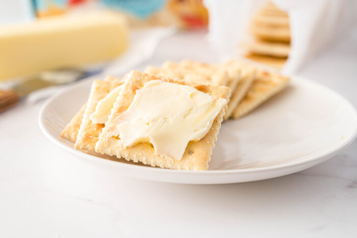 buttered saltines