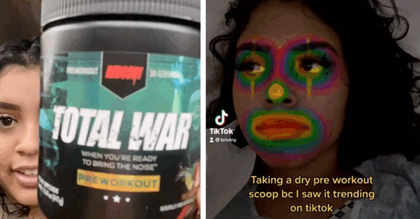 TikTok's 'Dry Scooping' Challenge Is Causing People To Have a Heart Attack
